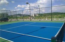 亞強體育施工案例: (gui)PU網球場,