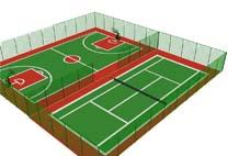 亞強體育施工案例:球場圍網YQ-0026,
