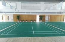 亞強體育施工案例:pvc羽毛球場YQ-003,