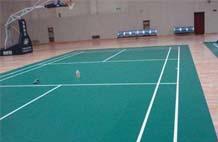 亞強體育施工案例:pvc羽毛球場