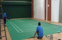 亞強體育施工案例:pvc羽毛球場,