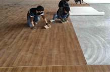 亞強體育施工案例:室內pvc籃球場YQ-004,