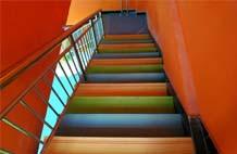 亞強體育施工案例:室內pvc樓梯踏步YQ-001,