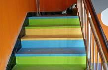 亞強體育施工案例:室內pvc樓梯踏步YQ-002,