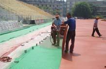 亞強體育施工案例:混合跑道施工YQ-0027,
