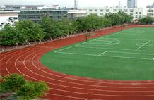 亞強體育施工案例:自(zi)結紋跑道施工YQ-004,
