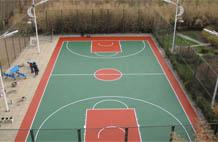 亞強體育施工案例:丙烯酸(suan)籃球場,