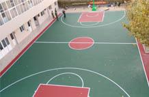 亞強體育施工案例:丙烯酸(suan)籃球場施工YQ-003,