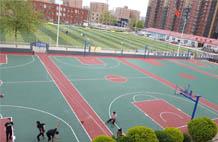 亞強體育施工案例:丙烯酸(suan)籃球場施工YQ-0016,