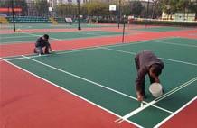 亞強體育施工案例:丙烯酸(suan)羽毛球場,