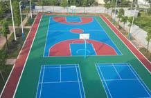 亞強體育施工案例:籃球場,