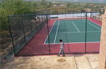 亞強體育施工案例:丙烯酸(suan)網球場施工,