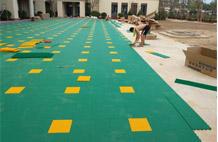 亞強體育施工案例:懸浮式網球場地板