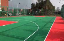 亞強體育施工案例:懸浮地板籃球場施工,
