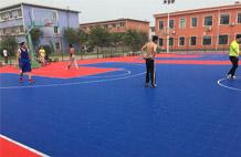 亞強體育施工案例:懸浮式籃球場,