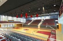 亞強體育施工案例:室內木地板,